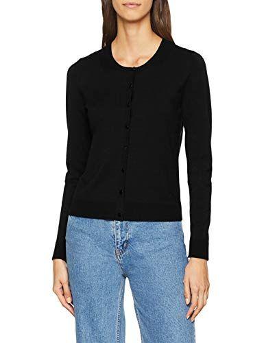 b2781b64c4 Sisley Women s L S Sweater Jumper (Black 100) Medium