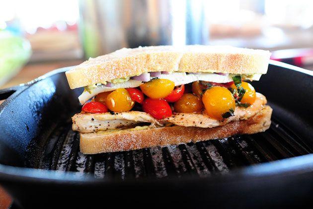 Bruschetta salad/panini