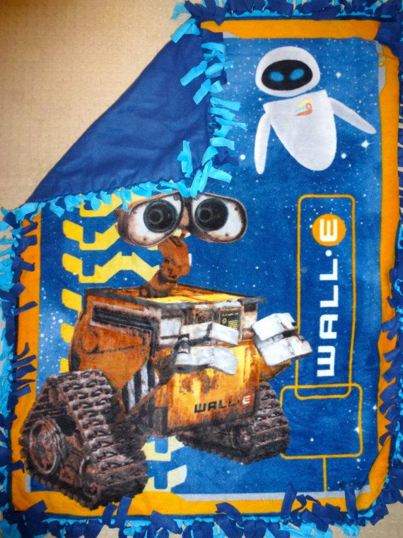 Disney WallE No Sew Fleece Blanket by RoxysRoxBoutique on Etsy, $30.00