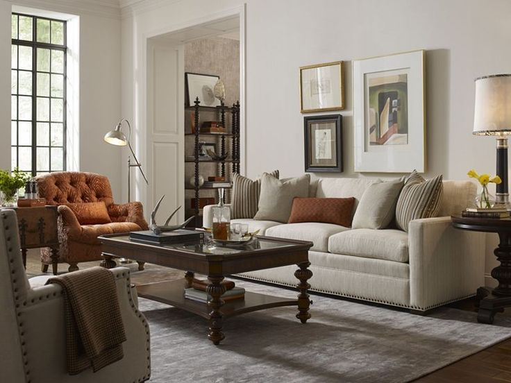 Thomasville Furniture Ernest Hemingway Living Room Featuring The Marco Sofa