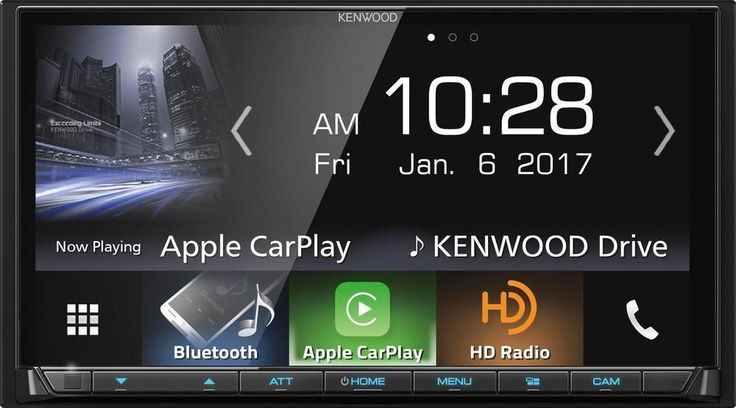 "Kenwood - 7"" - Android Auto/Apple CarPlay™ - Built-in Bluetooth - In-Dash Digital Media Receiver - Black"