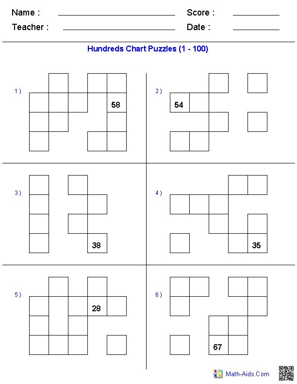 Hundreds chart, Charts and Puzzles on Pinterest
