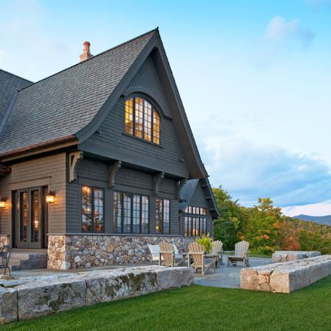 The 25 best exterior paint combinations ideas on - Mountain home exterior paint colors ...