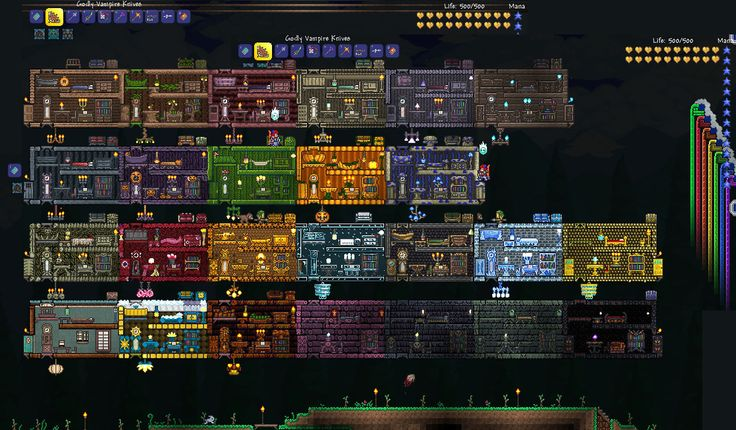 Terraria perffict house for all npcs google search for Terraria house designs