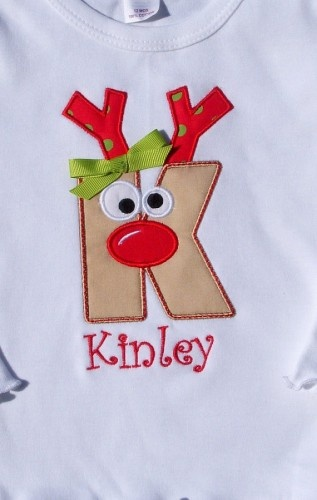 reindeer monogram shirt