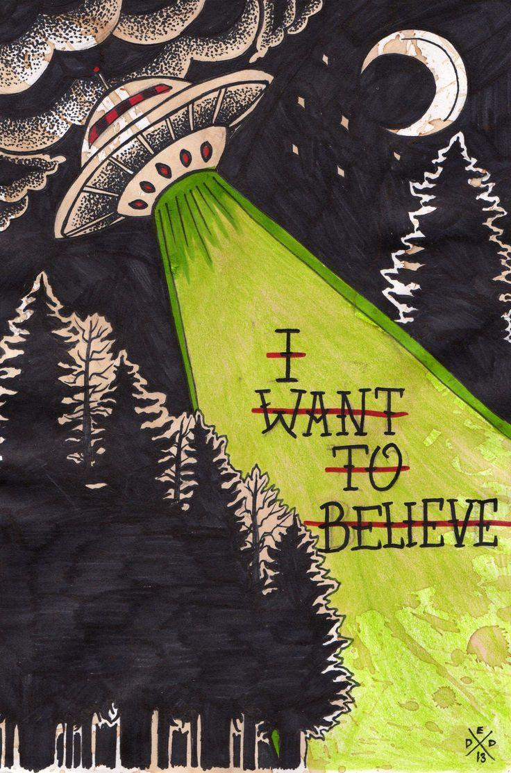 """EatSleepDraw • """"I Want to Believe"""" by Dead End Design..."""