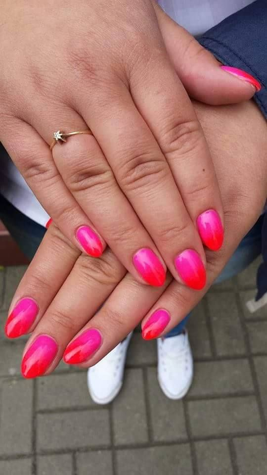 pink & neon & ombre