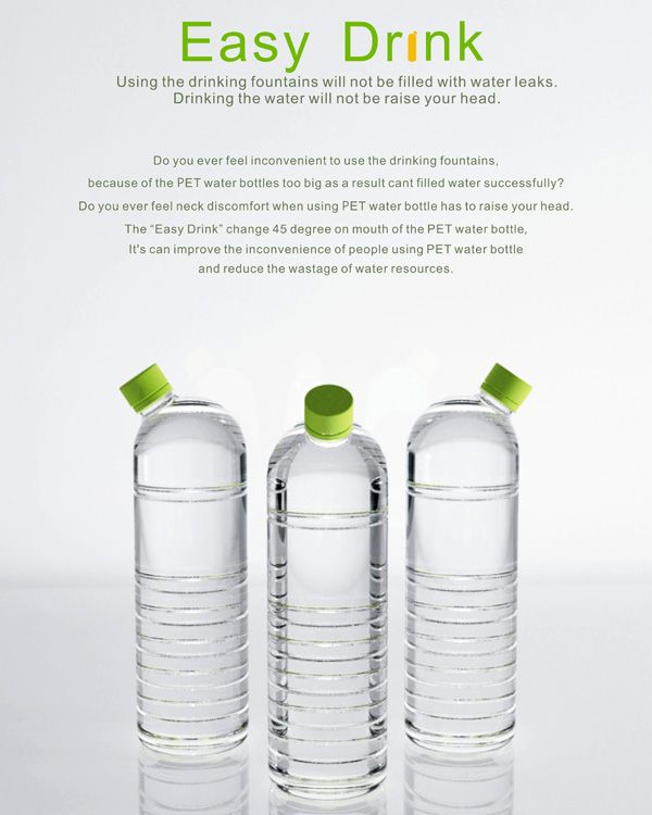 What will happen if we shift the mouth of the bottle from the top to a 45-degree angle? You may not be able to fill it to the brim, and drinking from it may be a bit weird, but filling the bottle from a water cooler or fountain will surely become easy.