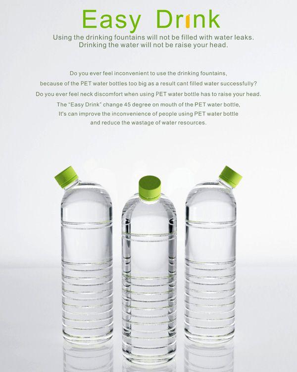 45 degree water bottles...genius
