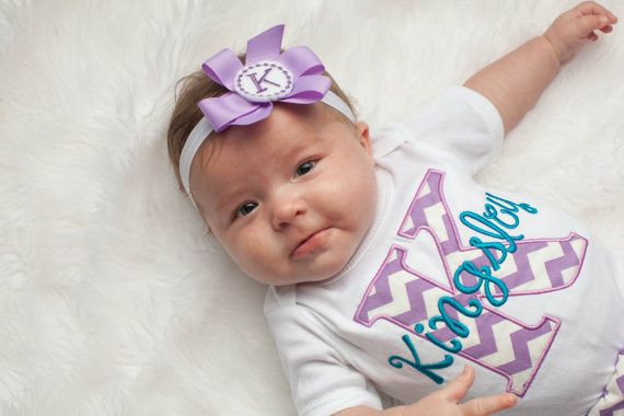 Monogram Baby Girl Clothes Chevron Personalized Baby by LilMamas