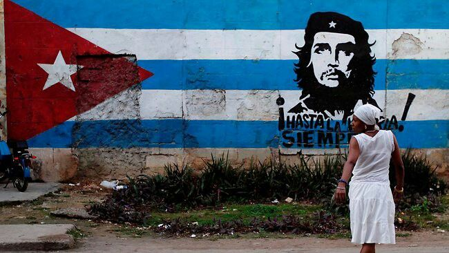 Symbols of the Cuban revolution, seen at every corner....