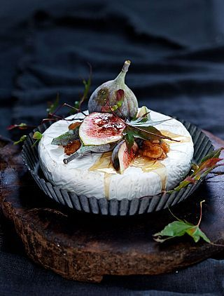 Honey, brie and figs- classic... Honey, Truffle Tremor, and figs- classic one-up.