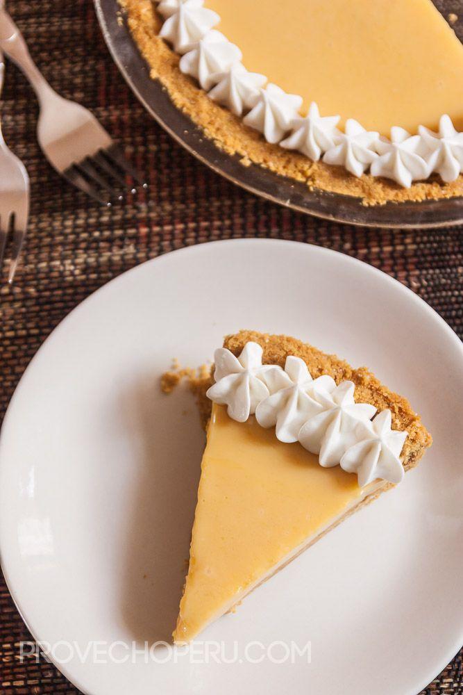 Passionfruit cream pie