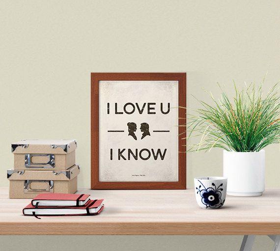 """I know"" Leïa & Han Solo"