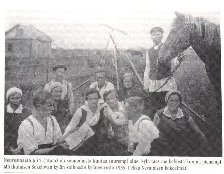 Колхозный совет в д.Сокелово, 1935 г. Слева дом Микко Лемети