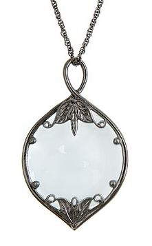 Magnifier Glass Necklace - Antique Silver