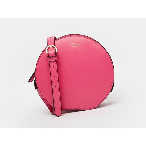 Fiorelli Joseph Circle Cross Body Bag ($77) ❤ liked on Polyvore featuring bags, handbags, shoulder bags, power pink, pink shoulder bag, fiorelli purses, circle purse, cross body and pink handbags