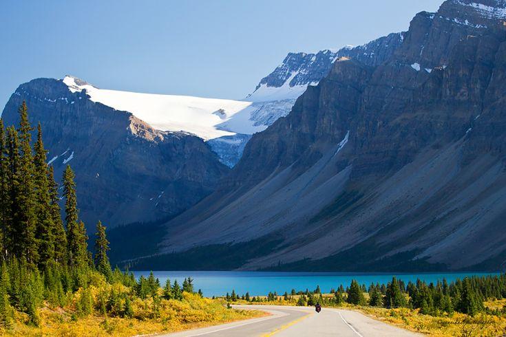 Bow Lake and Bow Glacier - Alberta, Canada.