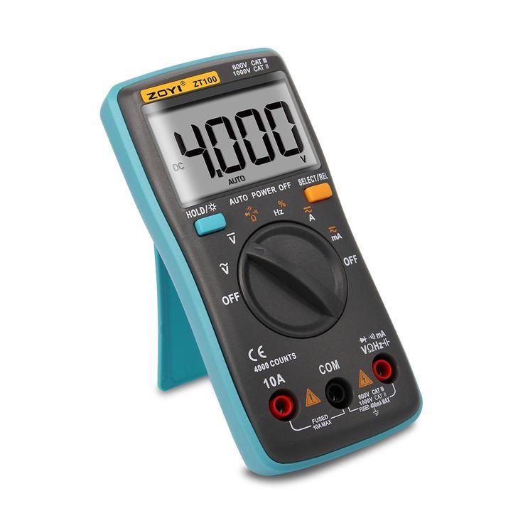 ZOYI 4000 Counts Portable LCD Screen Digital Multimeter Current Voltage Ohm Tester Auto Range Ammeter #Affiliate