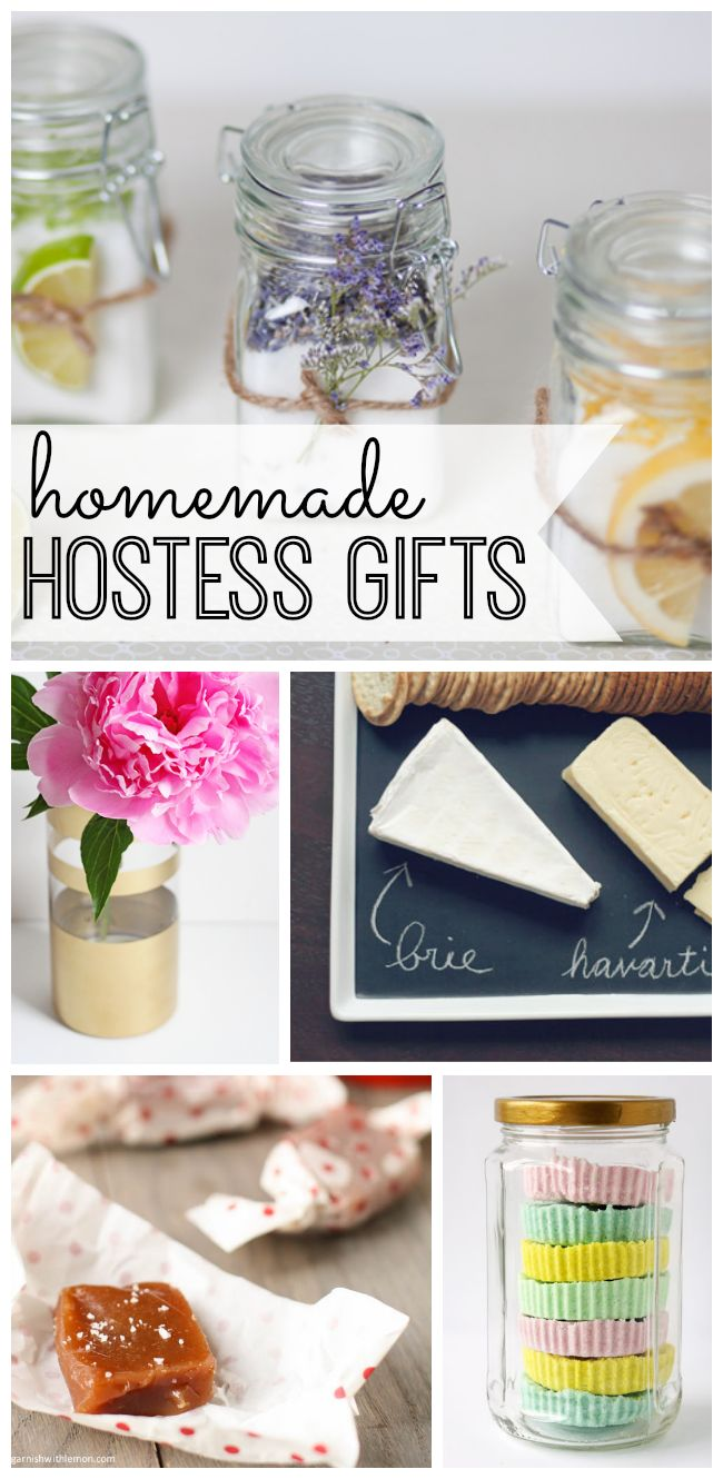 Pamper the hostess with one of these perfect homemade gifts! Great idea for DIY Christmas Gifts.