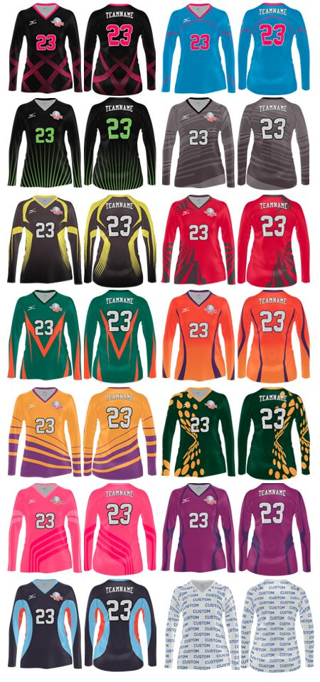 Awesome jerseys! Mizuno long sleeve sublimation jersey. Love the orange and purple one!!!!!!