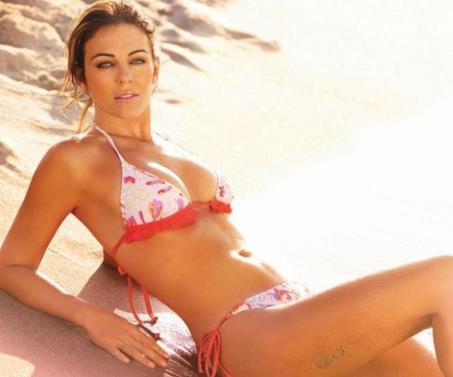 Elizabeth Hurley Bedazzled Bikini | liz hurley bikini wear ...