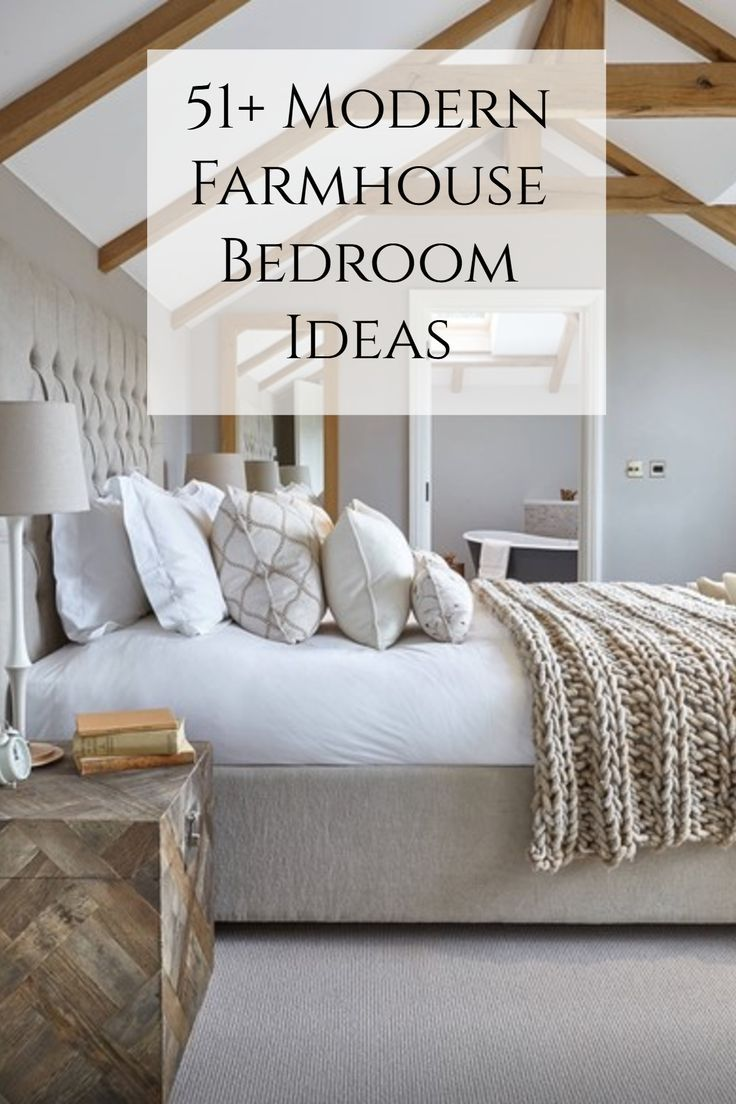 51 Rustic Farmhouse Bedroom Decor Ideas Farmhouse Master