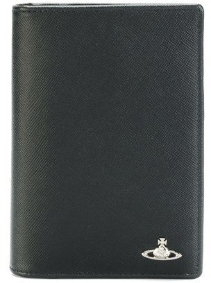 Vivienne Westwood Men's Black Leather Document Holder.