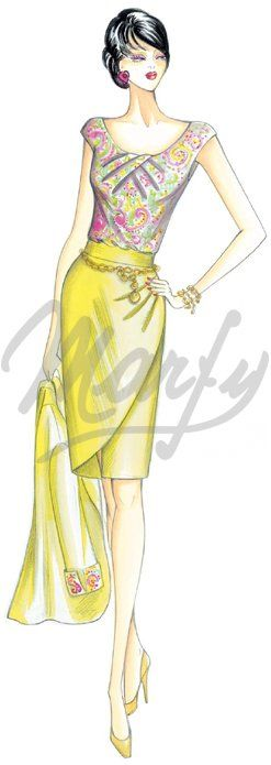 Marfy skirt pattern 2466 €11