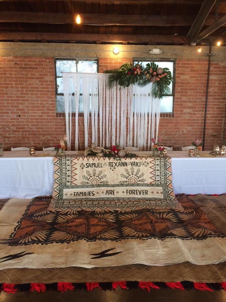 Modern tropical Tongan wedding