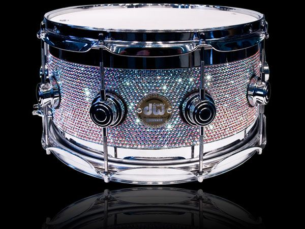 Swarovski crystal DW snare drum