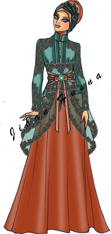 48+ Info Modis Sketsa Desain Baju Pesta Remaja Muslimah