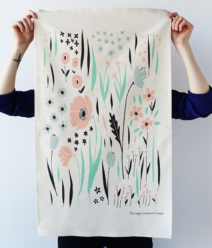 these cotton kitchen towels illustrated by lisa rupp are absolutely adorable - Kitchen Towels New Design