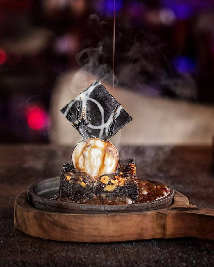 Walnut Sizzling Brownie Shoot For Warehouse Lounge From The Archives Follow My Insta Handle For More Such Posts Sizzler Recipes Food Food Cravings