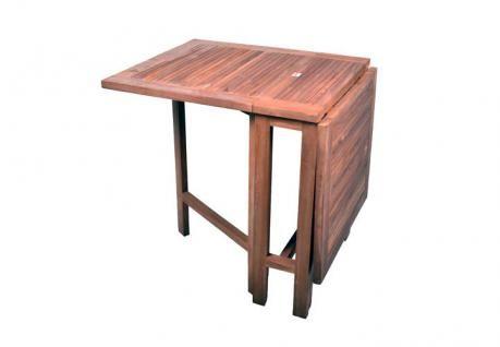 DIVERO Balkontisch Gartentisch Tisch Klapptisch 130x65 cm Holz Teak massiv - Vorschau 2