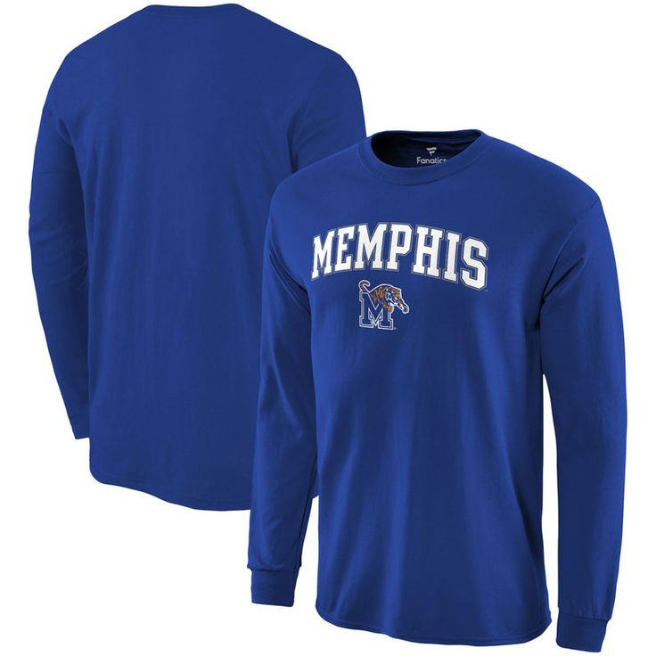 Memphis Tigers Fanatics Branded Campus Long Sleeve T-Shirt - Royal