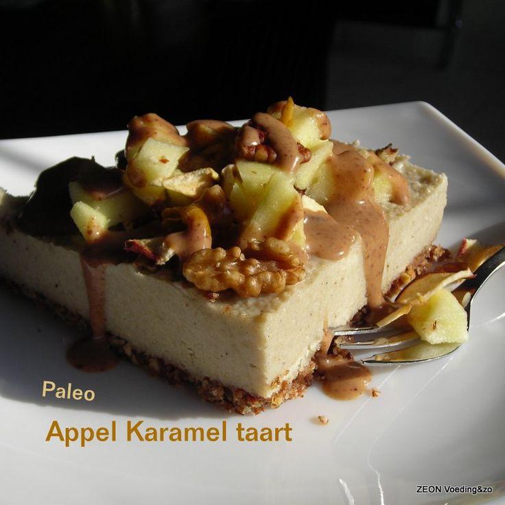 Paleo Appel Karamel taart - praktijk zeon