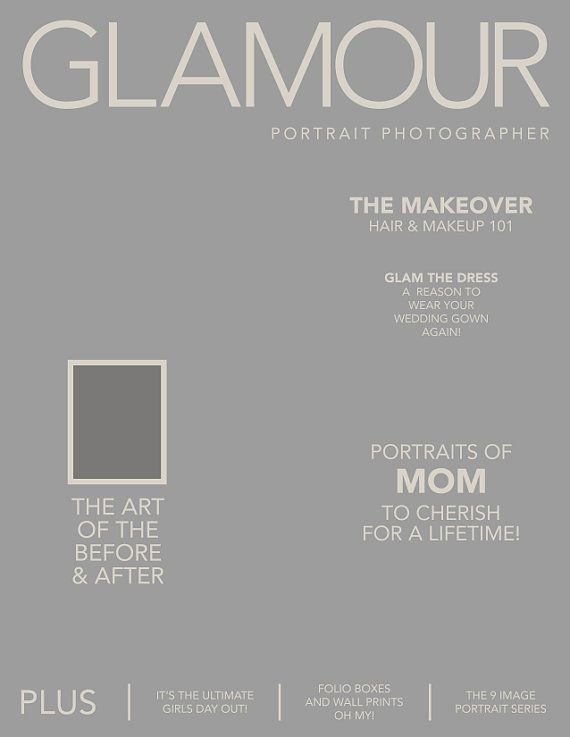 photoshop magazine front cover template option 1 party time glam night pinterest. Black Bedroom Furniture Sets. Home Design Ideas