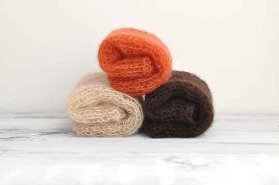 Autumn set  three thin mohair ethereal loosely by SweetDreamsProps, €46.00