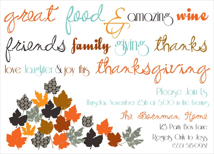 35 best thanksgiving invitations images on pinterest thanksgiving turkey day thanksgiving dinner invitation thanksgiving party invite via party box design stopboris Image collections