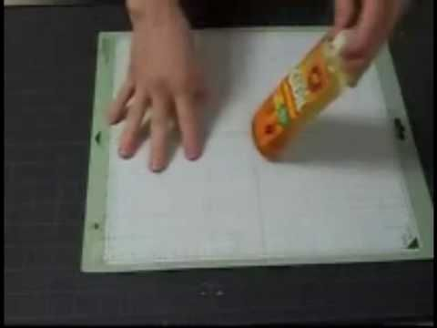 GREAT VIDEO:  New Cricut Mat Care plus a few ways to restick.
