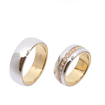 Золотые обручальные кольца с бриллиантами (Арт. 195)