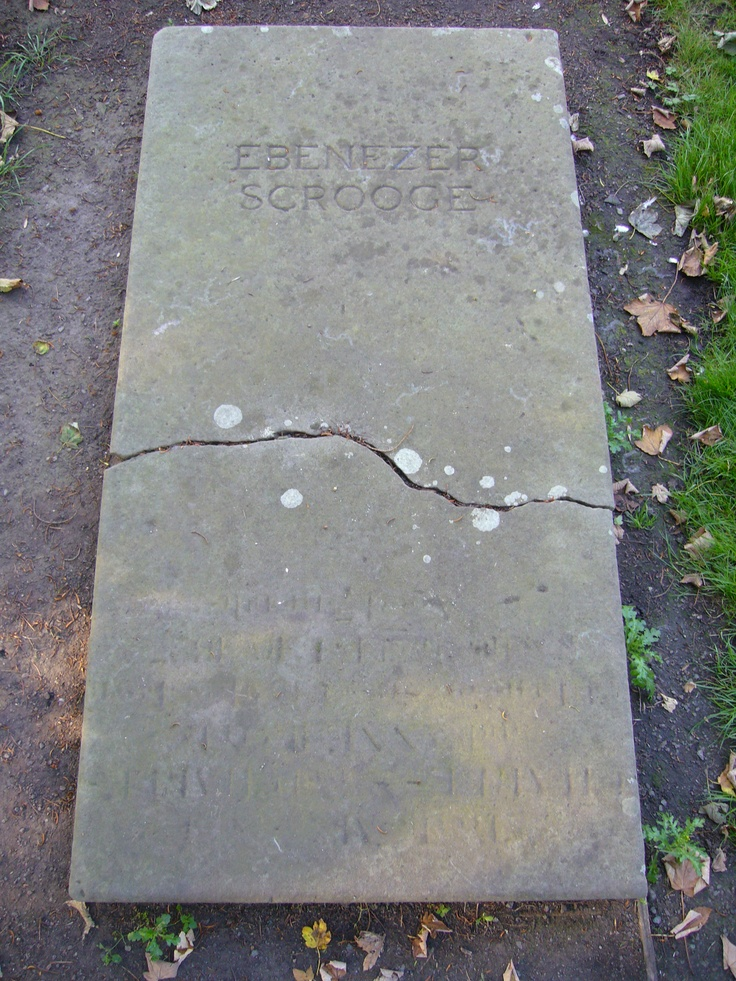 In the graveyard of St Chad's Church in Shrewsbury lies the grave of one Ebenezer Scrooge – and it's something of a tourist attraction. Unfortunately it's fake. The 1984 film 'A Christmas Carol', starring George C. Scott, used Shrewsbury as a location and after the film crew left, the grave remained.