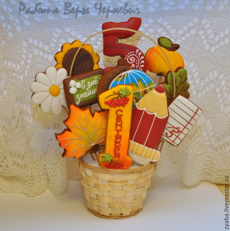 Купить Корзина учителю - пряники на 1 сентября и день учителя - пряник…