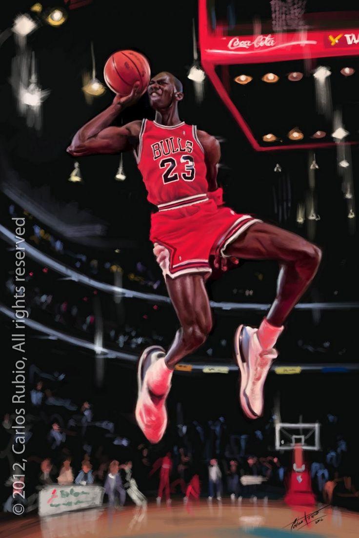 Caricatura de Michael Jordan.