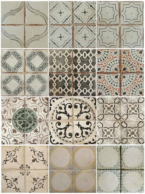antique ceramic tiles-perfect for kitchen backsplash