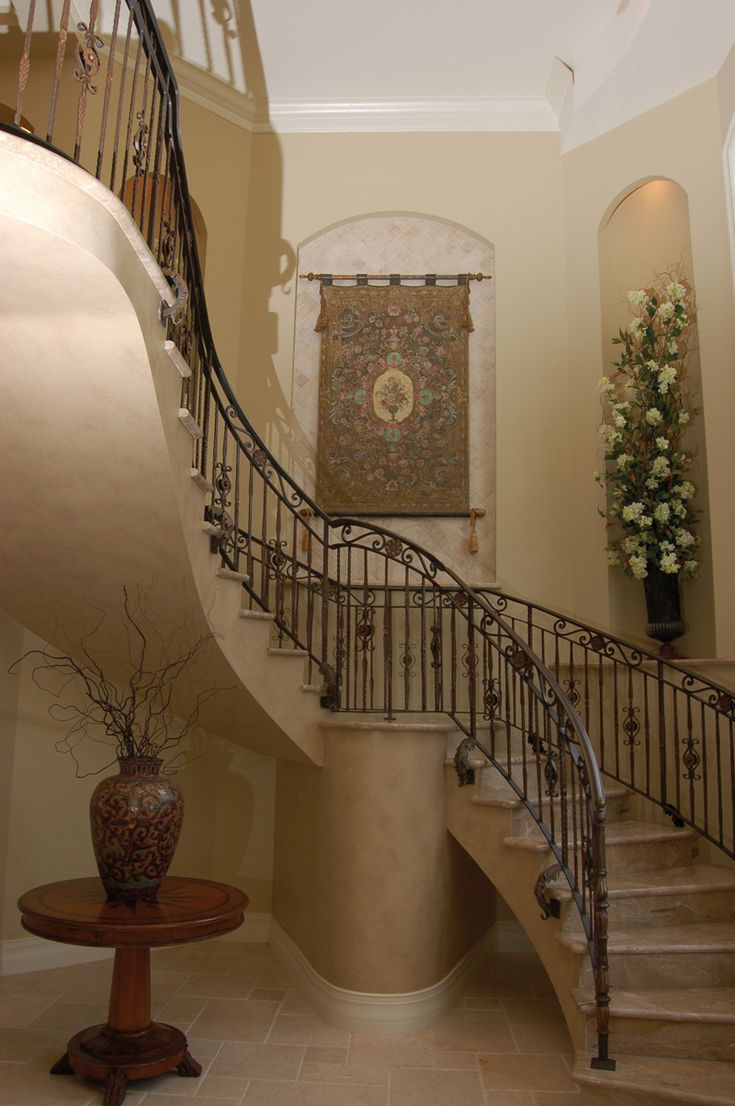 Foyer Spiral Staircase : Best home plans with splendid staircases images on