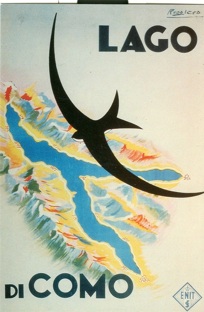 """Poster su legno: Lago di Como """"Fly"""""""