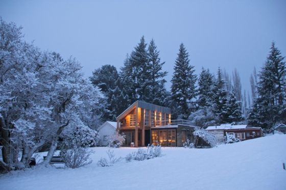 #winteriscoming - come and stay in this fabulous setting and holiday home in Coronet Peak, South Is, New Zealand - www.bookabach.co.nz/25813