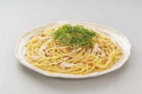 梅と蒸し鶏のスパゲッティー